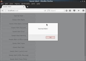 Normal Alert Javascript